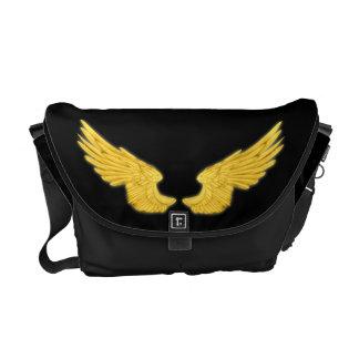 Falln goldene Engels-Flügel Kurier Taschen