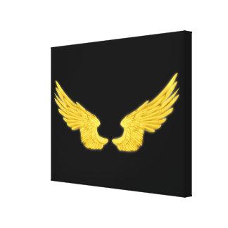 Falln goldene Engels-Flügel Leinwanddruck