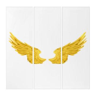 Falln goldene Engels-Flügel Triptychon