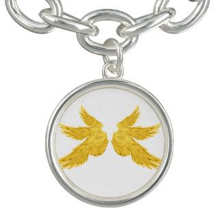 Falln goldene Erzengel-Flügel Armband