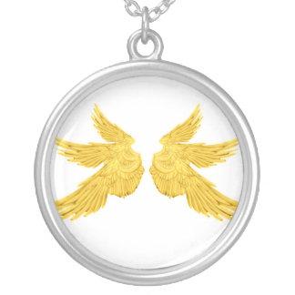 Falln goldene Erzengel-Flügel Versilberte Kette