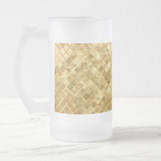 Falln goldenes Schachbrett Mattglas Bierglas