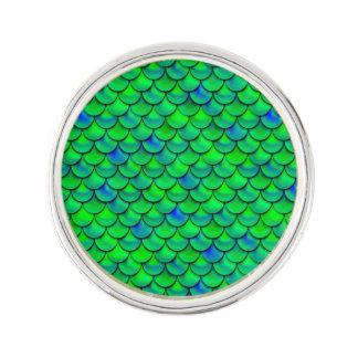 Falln grün-blaue Skalen Anstecknadel