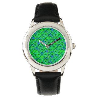 Falln grün-blaue Skalen Armbanduhr