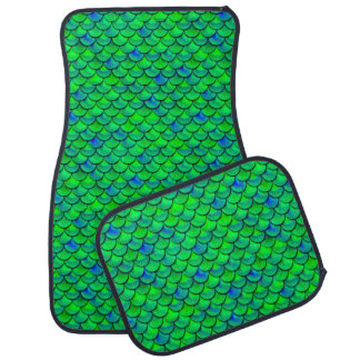 Falln grün-blaue Skalen Autofußmatte