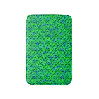 Falln grün-blaue Skalen Badematte