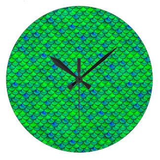Falln grün-blaue Skalen Große Wanduhr