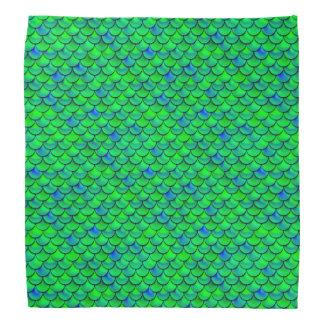 Falln grün-blaue Skalen Halstuch