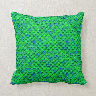 Falln grün-blaue Skalen Kissen