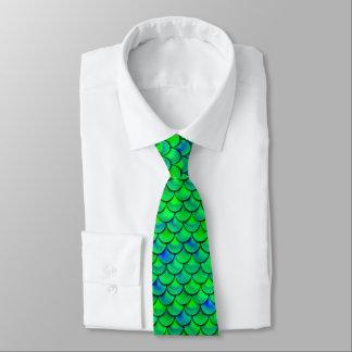 Falln grün-blaue Skalen Krawatte
