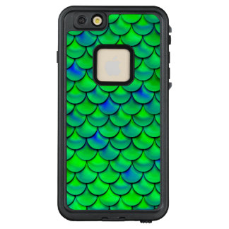 Falln grün-blaue Skalen LifeProof FRÄ' iPhone 6/6s Plus Hülle