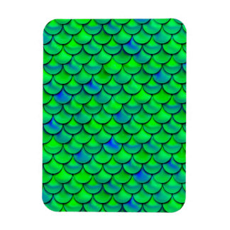 Falln grün-blaue Skalen Magnet
