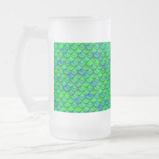 Falln grün-blaue Skalen Mattglas Bierglas