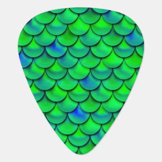 Falln grün-blaue Skalen Plektrum