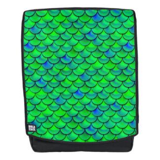 Falln grün-blaue Skalen Rucksack