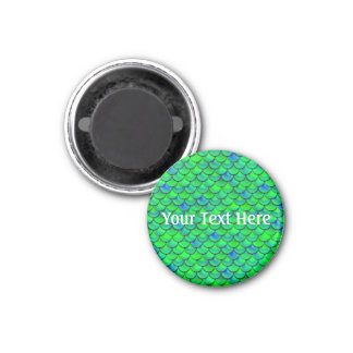 Falln grün-blaue Skalen Runder Magnet 2,5 Cm