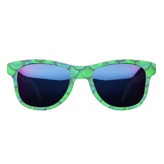 Falln grün-blaue Skalen Sonnenbrille