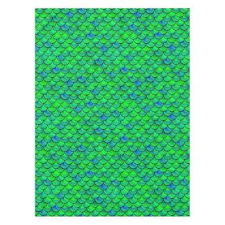 Falln grün-blaue Skalen Tischdecke
