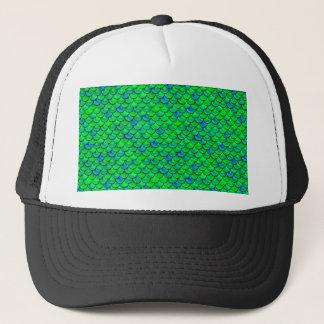 Falln grün-blaue Skalen Truckerkappe