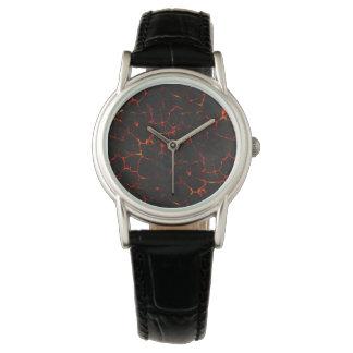 Falln heiße Lava Armbanduhr
