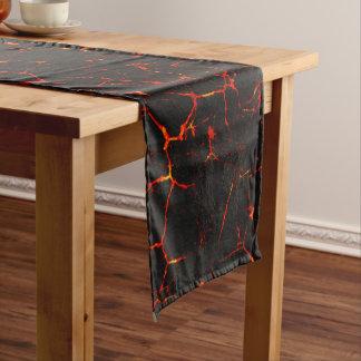 Falln heiße Lava Kurzer Tischläufer