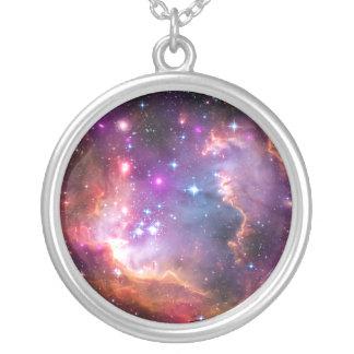 Falln himmlische Galaxie Versilberte Kette