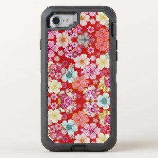 Falln hochrotes BlumenChirimen OtterBox Defender iPhone 8/7 Hülle
