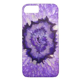 Falln lila Achat Geode iPhone 8/7 Hülle