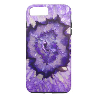 Falln lila Achat Geode iPhone 8 Plus/7 Plus Hülle