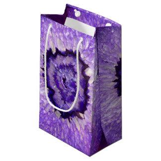 Falln lila Achat Geode Kleine Geschenktüte