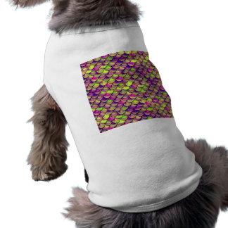 Falln lila und grüne Skalen Shirt