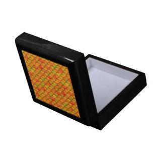 Falln orange und grüne Skalen Geschenkbox