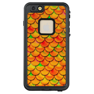Falln orange und grüne Skalen LifeProof FRÄ' iPhone 6/6s Plus Hülle