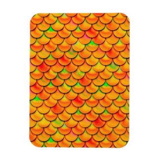 Falln orange und grüne Skalen Magnet