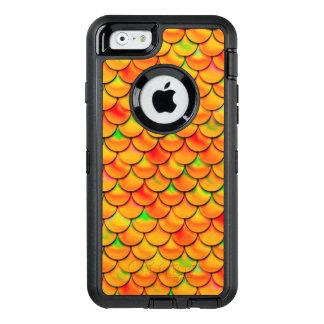 Falln orange und grüne Skalen OtterBox iPhone 6/6s Hülle