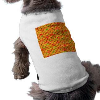 Falln orange und grüne Skalen T-Shirt