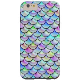 Falln Regenbogen-Blasen-Meerjungfrau-Skalen Tough iPhone 6 Plus Hülle