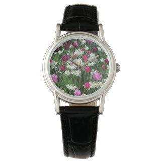 Falln romantischer Frühlings-Morgen Armbanduhr