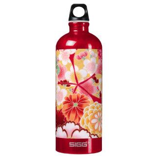 Falln rote Blumenexplosion Wasserflasche