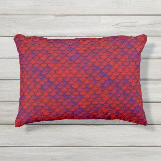 Falln rote und lila Skalen Kissen Für Draußen