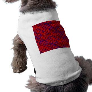 Falln rote und lila Skalen Shirt