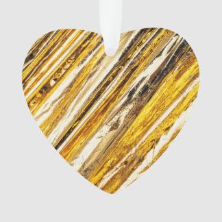Falln schimmernde Goldfolie Ornament