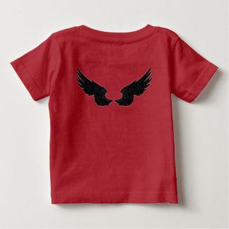 Falln schwarze Engels-Flügel Baby T-shirt
