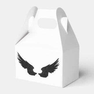 Falln schwarze Engels-Flügel Geschenkschachtel