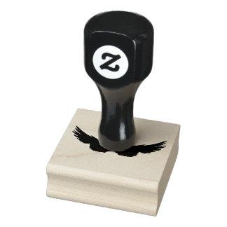 Falln schwarze Engels-Flügel Gummistempel