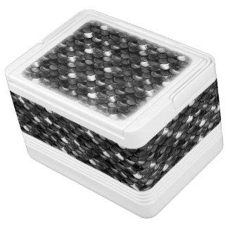 Falln Schwarzweiss-Skalen Igloo Kühlbox
