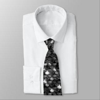 Falln Schwarzweiss-Skalen Krawatte