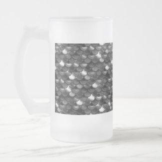 Falln Schwarzweiss-Skalen Mattglas Bierglas