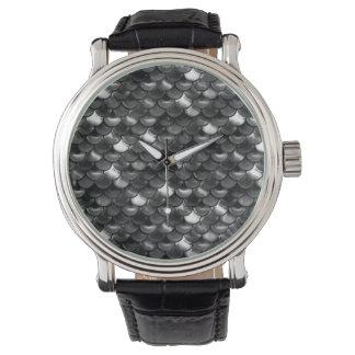 Falln Schwarzweiss-Skalen Uhr
