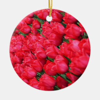 Falln Teppich der hochroten Tulpen Keramik Ornament